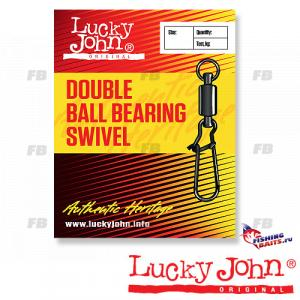 Вертлюги c застежкой и подш. Lucky John DOUBLE BALL BEARING AND FASTLOCK 005 3шт.