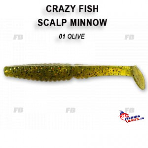 "Scalp minnow 3.2"" 7-80-1-5"
