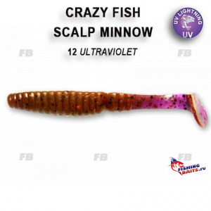 "Scalp minnow 3.2"" 7-80-12-4"