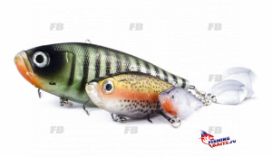 ROZEMEIJER  Воблер с лепестком Pike Attack 75gr Rainbow Trout 7см 64603221